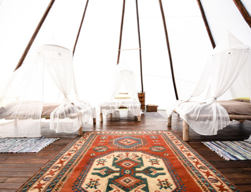 Sustainable yoga and surf retreat Tipi Valley
